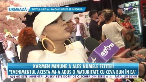 Karmen Minune a ales numele  fetiței: O va chema Sofia