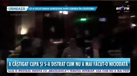 Imagini exclusive cu Gică Hagi după ce a câştigat prima Cupă a României din carieră