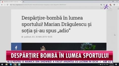 Marian Drăgulescu și soția și-au spus adio