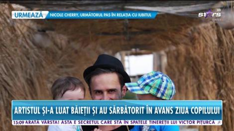 Şerban Copoţ, un tătic cu normă întreagă! A sărbătorit în avans ziua copilului cu băieţii săi!