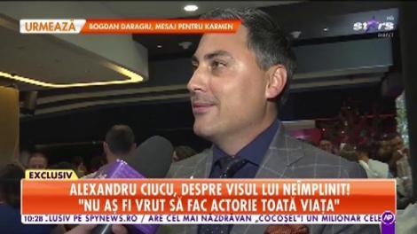 Star Matinal. Alex Ciucu, despre visul lui neîmplinit: Dacă nu eram designer, aș fi vrut să fac actorie de film
