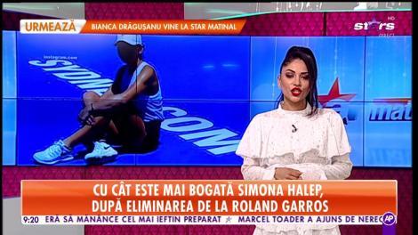 Cât a adunat în cont Simona Halep după eliminarea de la Roland Garros