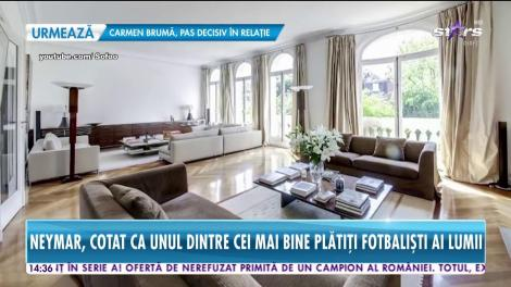 Neymar, unul dintre cei mai bine plătiţi fotbalişti, are o casă de milioane în inima Franţei