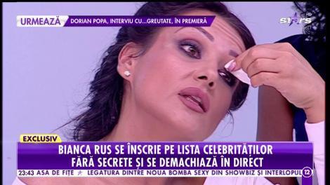 Bianca Rus s-a înscris pe lista celebrităţilor care s-au demachiat în direct!