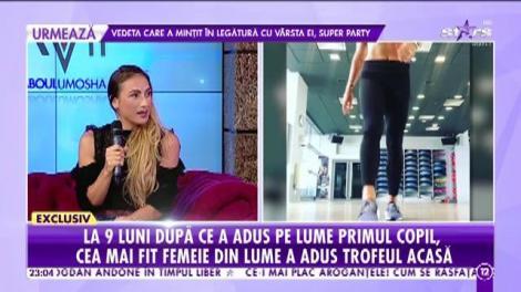 Agenţia VIP. Anca Bucur, Miss Fitness Universe pentru a șasea oară! Cât de greu i-a fost să câştige din nou titlul mondial