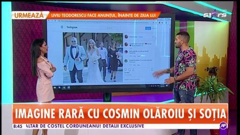 Star Matinal. Imagine rară cu Cosmin Olăroiu și soția