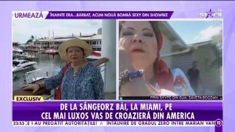 Saveta Bogdan, de la Sângeorz Băi, la Miami, pe cel mai luxos vas de croazieră din America