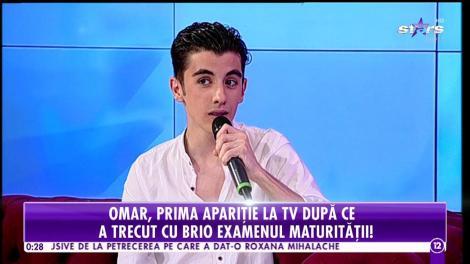 Agenția Vip. Omar, prima apariție la TV după ce a trecut cu brio examenul maturității