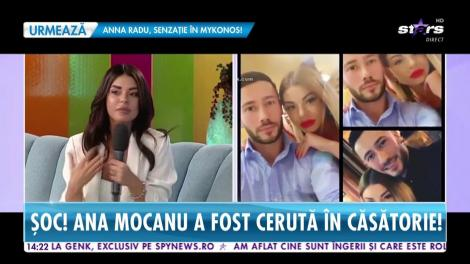 Star Magazin. Ana Mocanu a fost cerută în căsătorie de fostul iubit