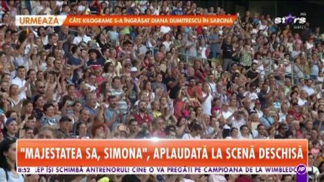 """Simona Halep: """"Mulțumesc că m-am născut în România!"""" Momente emoționante pe Arena Națională! Nadia Comăneci i-a fost alături!"""