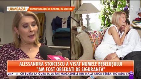 """Alessandra Stoicescu a visat numele bebeluşului! """"Sara Maria o va chema pe micuţă"""""""