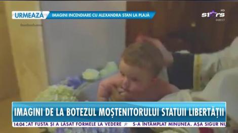 Star News. Imagini de la botezul moştenitorului Statuii Libertăţii! Iasmina Hill şi-a dorit neapărat ca băieţelul ei să fie creştinat în România
