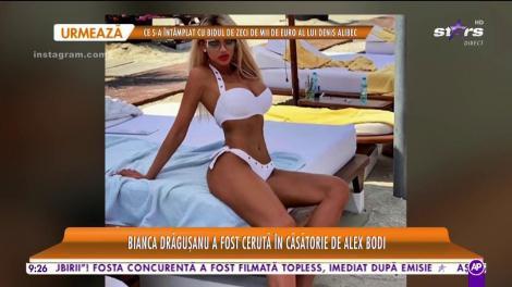 Star Matinal. Bianca Drăguşanu a fost cerută în căsătorie de Alex Bodi