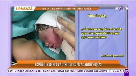 Alina Pușcaș a devenit mamă pentru a treia oară! Primele imagini cu fiica ei, micuța Iris