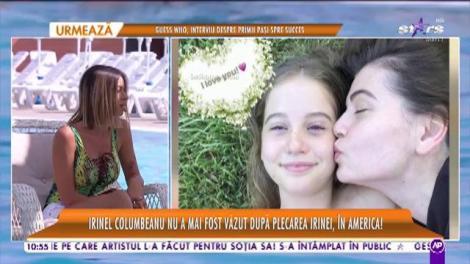 Irinel Columbeanu suferă de când fiica sa a plecat în SUA