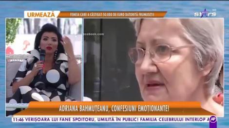 """Adriana Bahmuţeanu, confesiuni emoționante! """"Încă nu m-am recuperat, nu pot să vorbesc"""""""