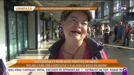 Star Matinal e pe val! Saveta Bogdan s-a întors în România. Primele declarații ale artistei