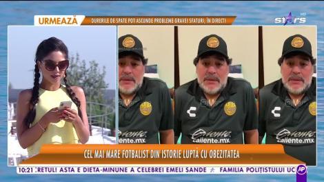 Star Matinal e pe val! Maradona luptă cu obezitatea. Fostul mare fotbalist cântărească 127 de kilograme
