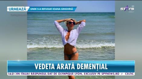 Crina Abrudan a încins atmosfera pe litoral! Vedeta s-a distrat de zor în club