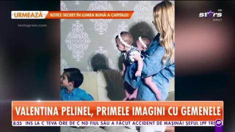Star Matinal. Valentina Pelinel, prima ședință foto cu cei trei copii