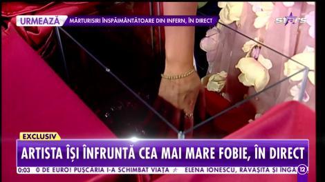 Bianca Rus şi-a înfruntat cea mai mare fobie, în direct, la Agenţia VIP!