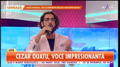 Cezar Ouatu, voce impresionantă. Artistul cântă live la Star Matinal
