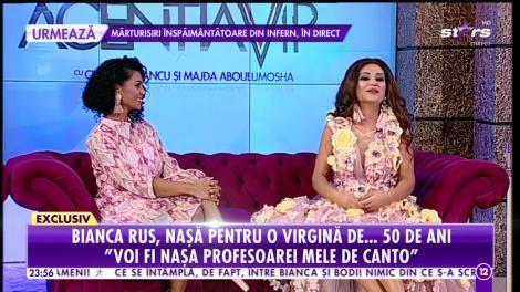 Bianca Rus, naşă pentru o virgină de 50 de ani!