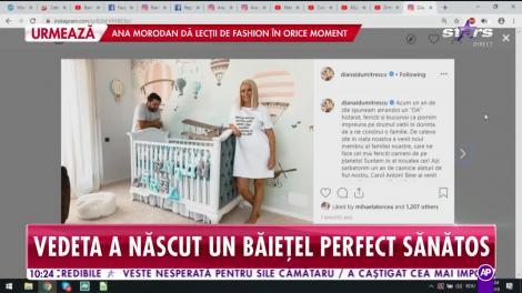 Diana Dumitrescu a născut un băieţel perfect sănătos! Ce nume a ales pentru bebeluş