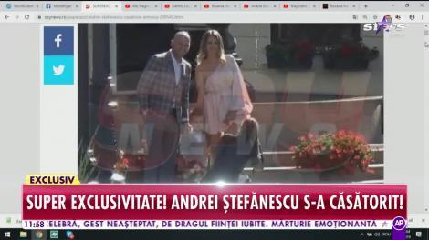Star Matinal. Andrei Ștefănescu s-a căsătorit