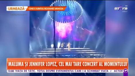 Star Matinal. Maluma, gesturi tandre cu Jennifer Lopez, pe scenă