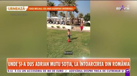 În ce loc superb şi-a dus familia Adrian Mutu