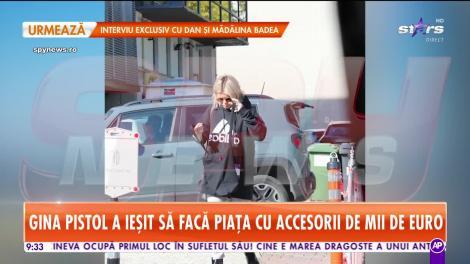Gina Pistol a ieşit să facă piaţa cu accesorii de mii de euro