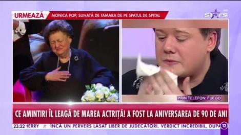 Tamara Buciuceanu Botez a murit. Fuego, în stare de șoc la aflarea veștii - VIDEO