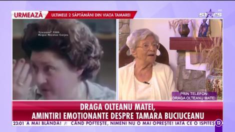 Agenția Vip. Tamara Buciuceanu Botez a murit. Draga Olteanu Matei: E greu să te desparți de omul care îți este drag