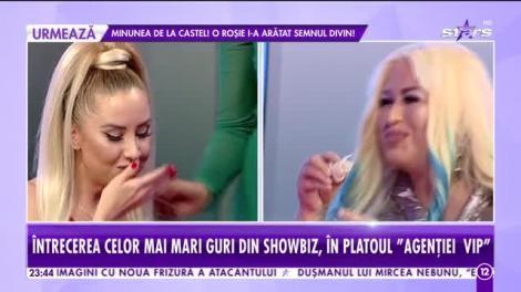 Agenția VIP. Lenna și Cristina Pazurati, provocarea serii. Câți metri de gumă pot băga în gură cele două vedete