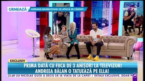 Răi da Buni. Andreea Bălan, prima dată cu fiica de trei anișori la televizor. Cum a decurs aniversarea fetiței
