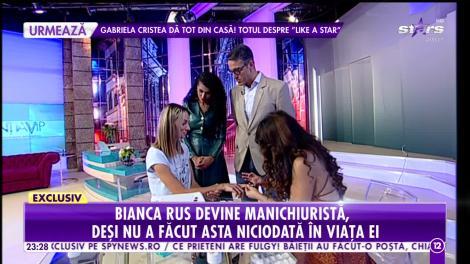 Bianca Rus s-a reprofilat! Artista a devenit manichiuristă!