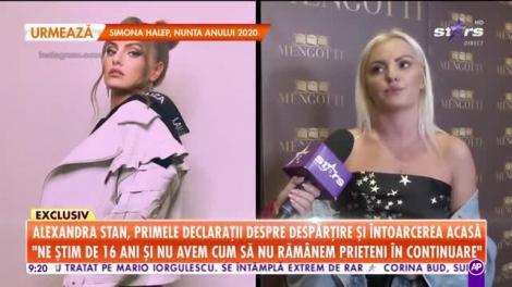 Star Matinal. Alexandra Stan, primele declarații despre despărțire și întoarcerea acasă