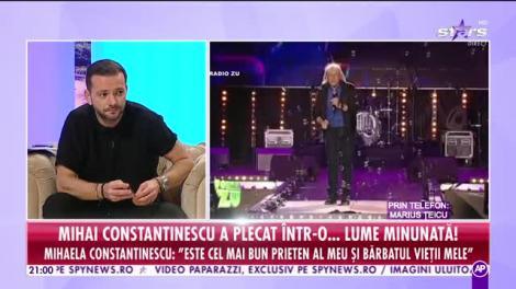 """Răi da buni. România plânge! Mihai Constantinescu a plecat într-o lume... minunată. Marius Țeicu: """"Toți speram că se va face bine"""""""