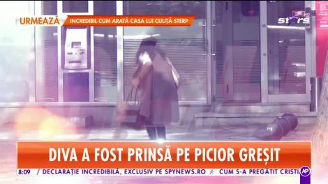 Imagini exclusive! Mihaela Rădulescu a comis-o în public! Cum era să-şi facă zob obiectul fără de care nu poate să trăiască