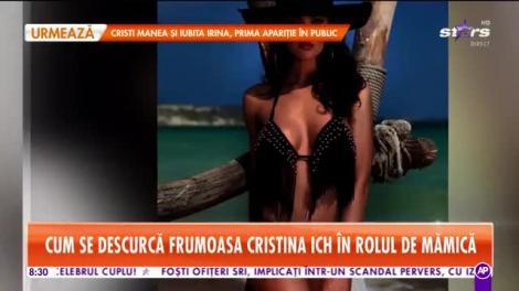 Star Matinal. Cristina Ich, prima apariţie după naştere