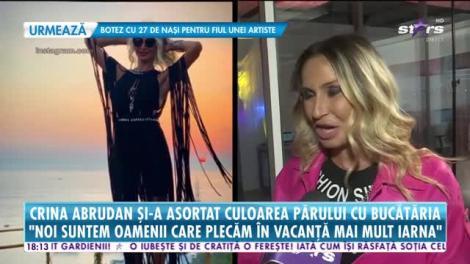 Star News. Crina Abrudan și-a asortat bucătăria cu culoarea părului