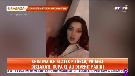 Star Matinal. Cristina Ich şi Alex Piţurcă, primele declaraţii împreună după ce au devenit părinţi!
