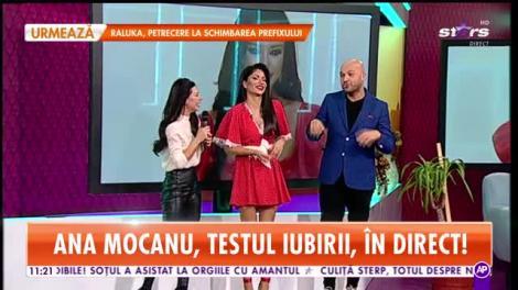 Star Matinal. Ana Mocanu face testul iubirii, în direct! Ce bărbat i se potriveşte