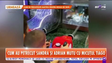 Star Matinal. Cum au petrecut Sandra și Adrian Mutu cu micuțul Tiago