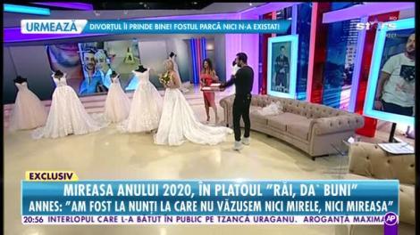 Annes îşi pune pirostriile după 20 de ani de relaţie! Artista şi-a ales rochia de mireasă, în direct!