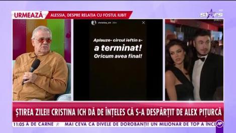 Despărţire bombă! Cristina Ich i-a spus adio lui Alex Piţurcă, la o lună de când au devenit părinţi!