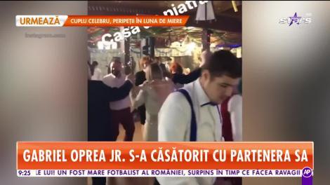 Gabriel Oprea jr. s-a căsătorit cu partenera sa!