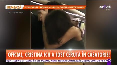 Cristina Ich a fost cerută în căsătorie de Alex Piţurcă!