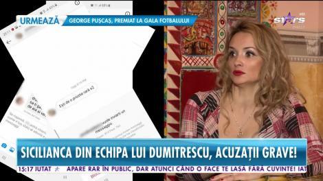 Sicilianca din echipa lui Florin Dumitrescu, acuzații grave: Între mine și Cătălin Scărlătescu este o relație de amiciție